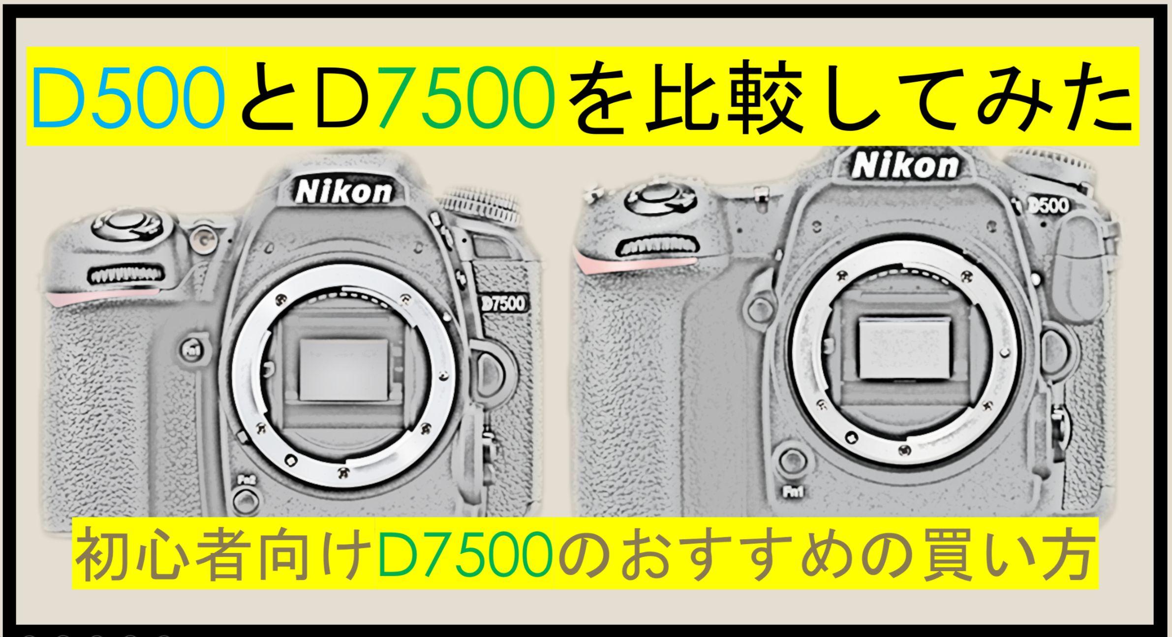 ニコンDXフォーマットD7500とD500を比較してみた!初心者はD7500で幸せになれ