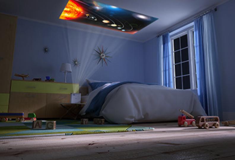 お家にいながら映画館「EF-100W」をレビュー!天井投影もできるお洒落プロジェクター!!